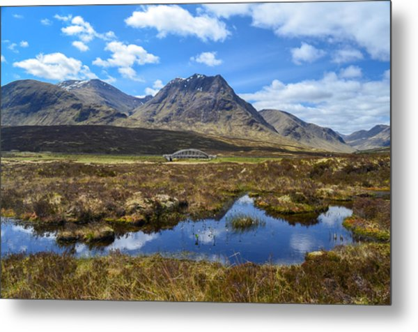 Kings House Near The Bridge Over The River Etive Metal Print by Alex Zorychta