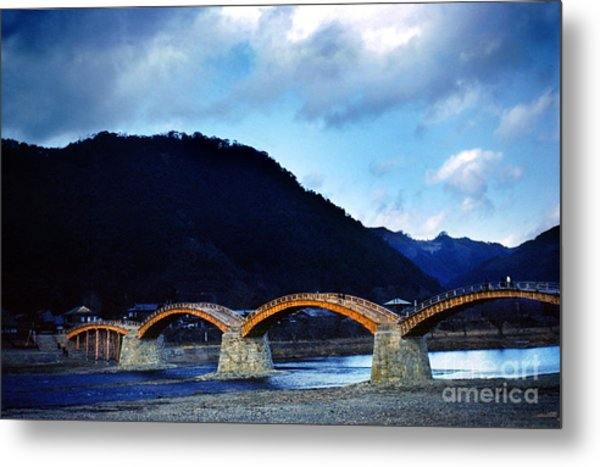 Kintai Bridge Japan Metal Print