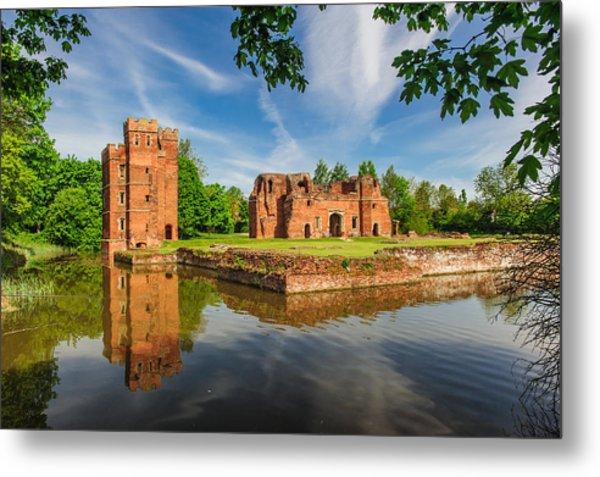 Kirby Muxloe Castle Metal Print by David Ross