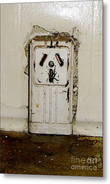 Kitchen Outlet Metal Print by Susan Sorrell