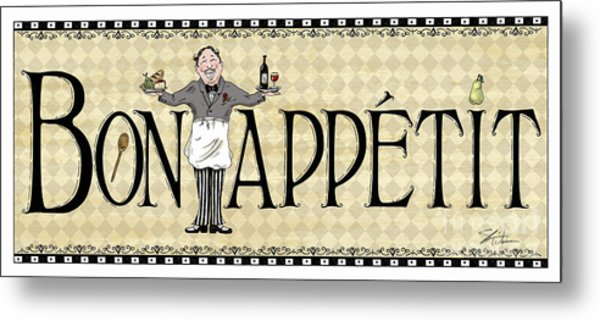 Kitchen Sign-bon Appetit Metal Print