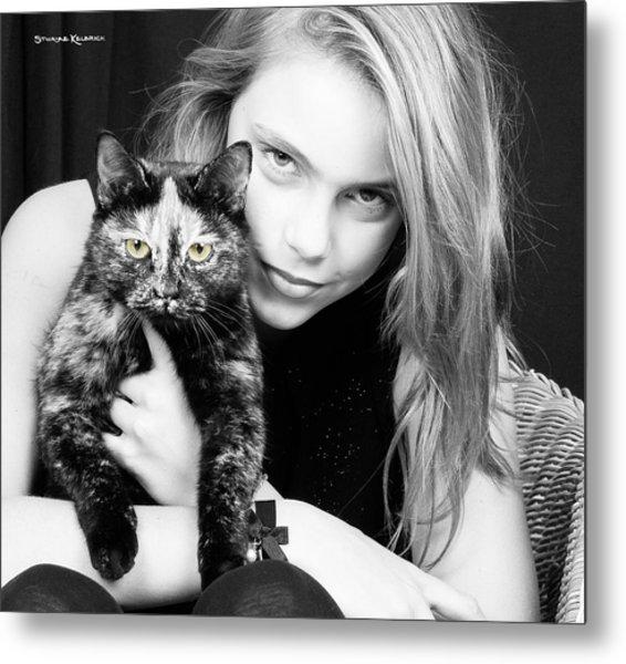 Metal Print featuring the photograph Kitten Eyes by Stwayne Keubrick