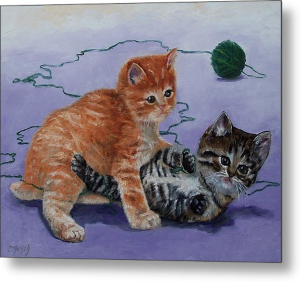 Kittens At Play Metal Print by Donna Munsch