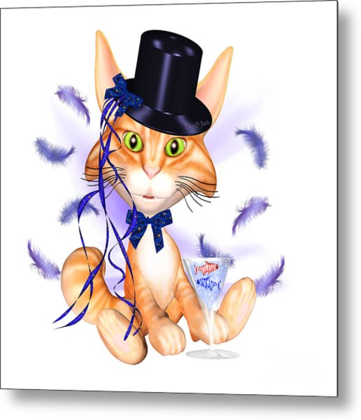 Kitticat Party Design Metal Print