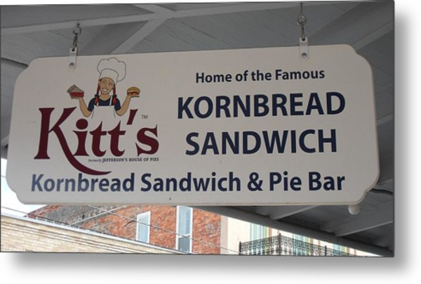 Kitt's Kornbread Sanwich And Pie Bar Metal Print