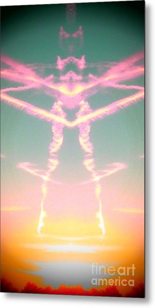 Kitty Cat Contrail Ballerina Metal Print