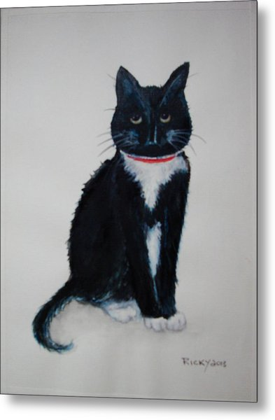 Kitty - Painting Metal Print