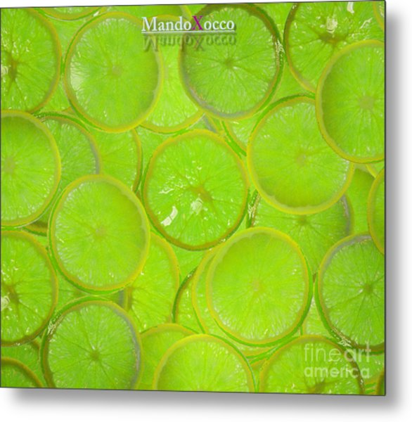 Kiwi Lemon Orange Metal Print