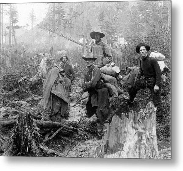 Klondike Gold Rush Miners  1897 Metal Print