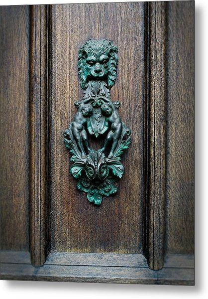 Knocker Metal Print