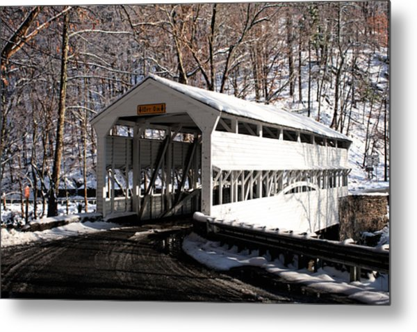 Knox Bridge In The Snow Metal Print