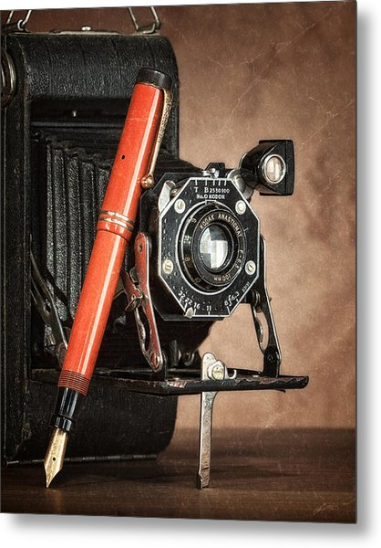 Kodak And Parker Still Life Metal Print