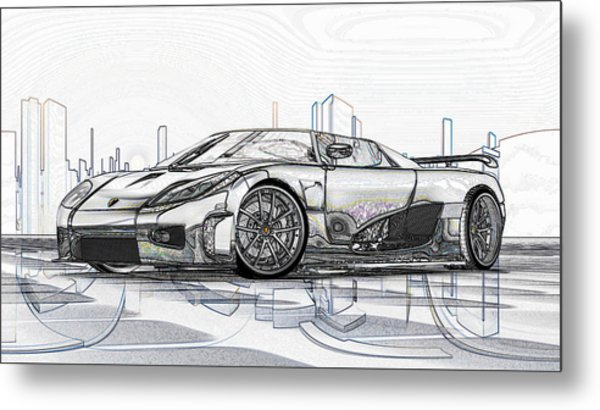 Koenigsegg Ccx Sketch  Metal Print