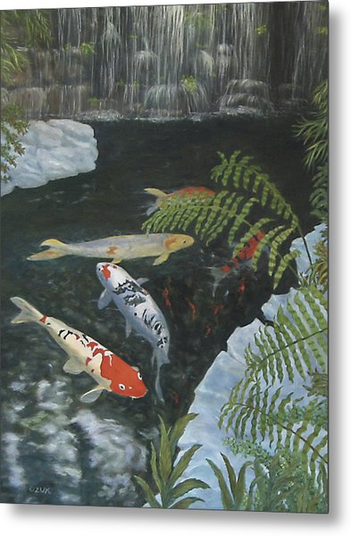 Koi Fish Metal Print