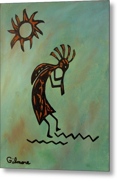 Kokopelli Flute Player Metal Print