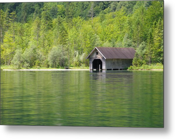 Konigsee Boathouse Metal Print