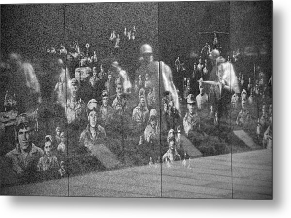 Metal Print featuring the photograph Korean War Veterans Memorial by Jemmy Archer