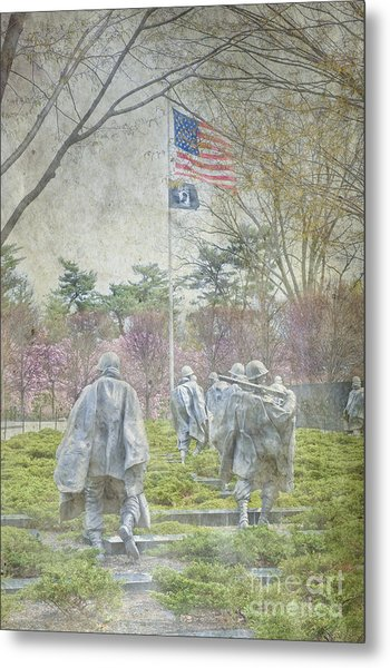 Korean War Veterans Memorial Washington Dc Beautiful Unique   Metal Print