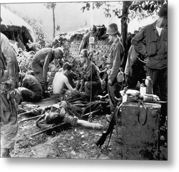 Korean War Wounded Metal Print
