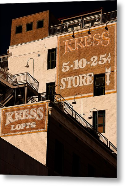 Kress Ghost Signs By Denise Dube Metal Print