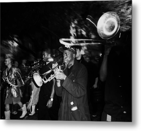 Krewe Du Vieux Parade Brass Band Metal Print