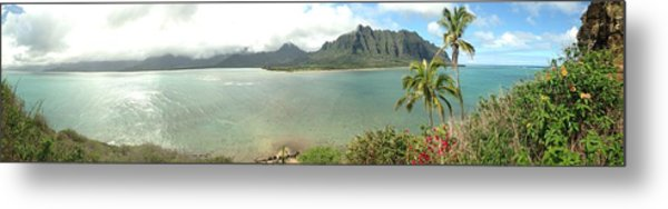 Kualua Kauai Panoramic Metal Print by Tropigallery -