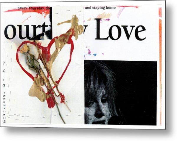 Kurt Cobain Memorial Metal Print