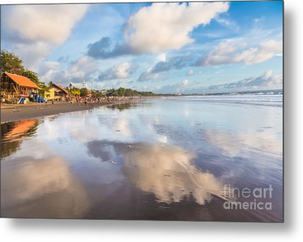 Kuta Beach In Seminyak Metal Print