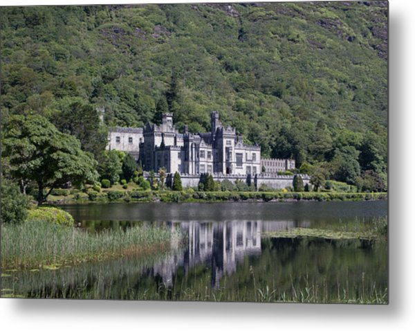 Kylemore Abbey Reflection Metal Print