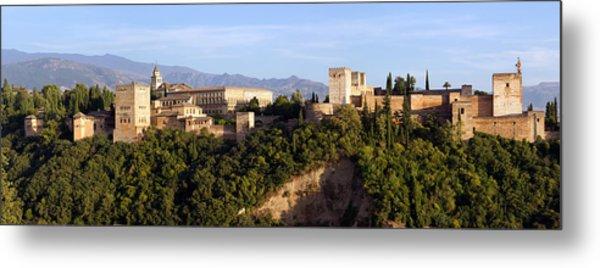 La Alhambra Panorama Metal Print by Francesco Riccardo  Iacomino