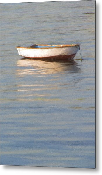 La Barque Au Crepuscule Metal Print