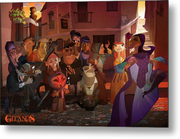 Metal Print featuring the digital art La Calle by Nelson Dedos Garcia