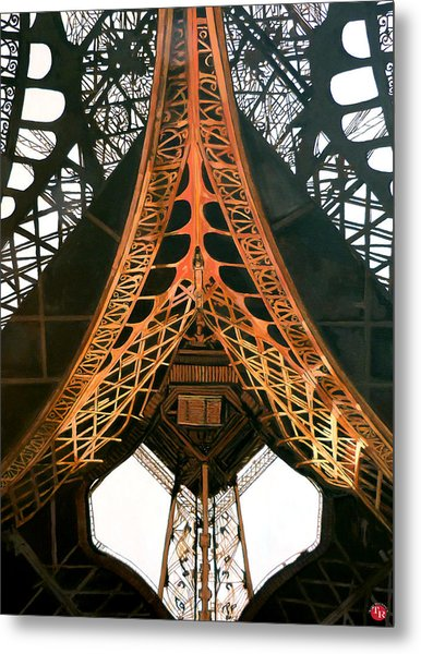 Metal Print featuring the painting La Dame De Fer by Tom Roderick