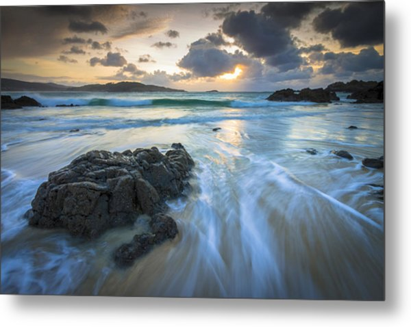 La Fragata Beach Galicia Spain Metal Print