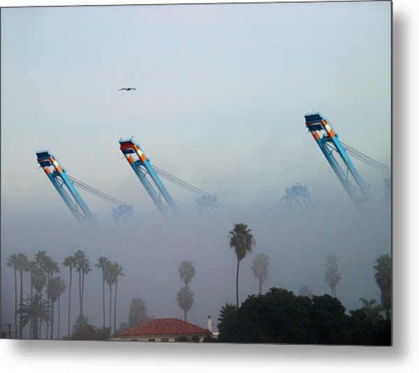 La Harbor Never Sleeps Metal Print