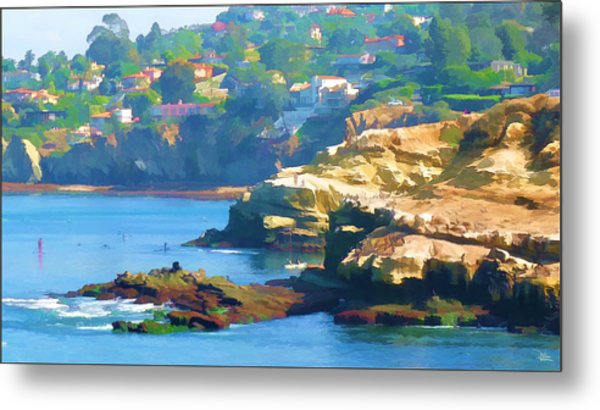 La Jolla California Cove And Caves Metal Print