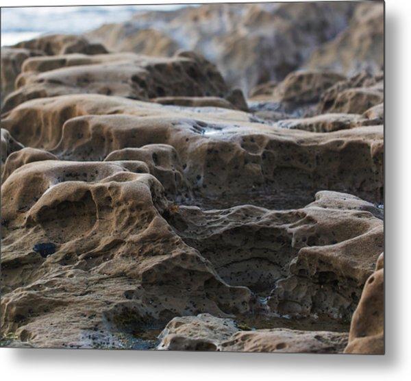 La Jolla Sandstone Metal Print