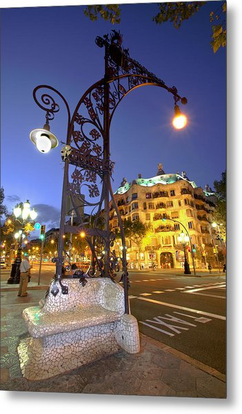 La Pedrera From Gaudi Metal Print by Javier Fores
