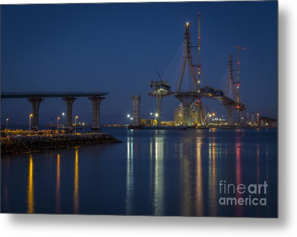 La Pepa Bridge Cadiz Spain Metal Print
