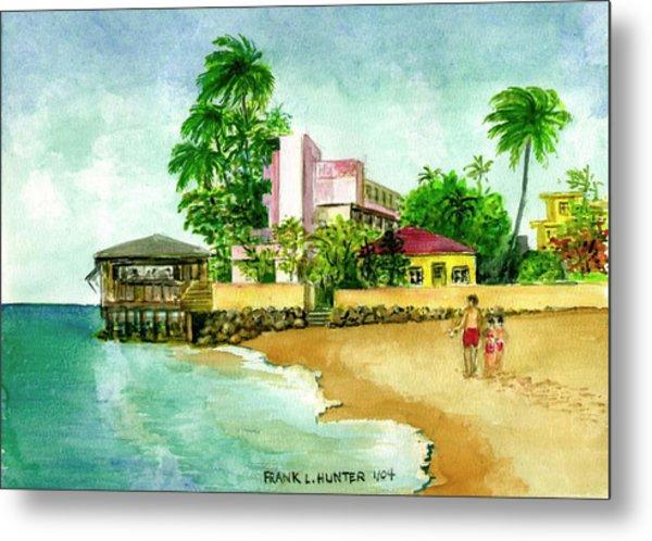 La Playa Hotel Isla Verde Puerto Rico Metal Print