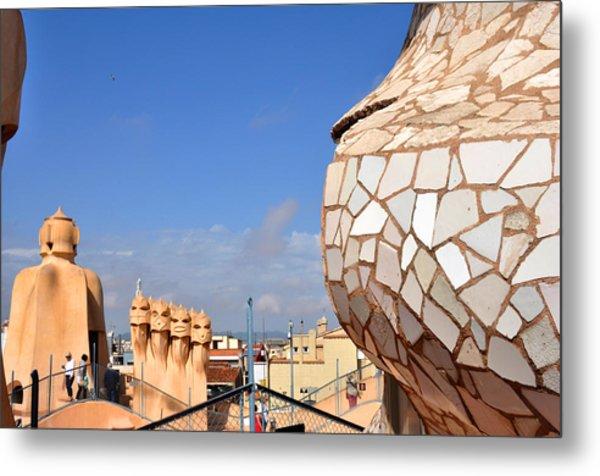 La Predrera Gaudi House Barcelona Metal Print by Diane Lent
