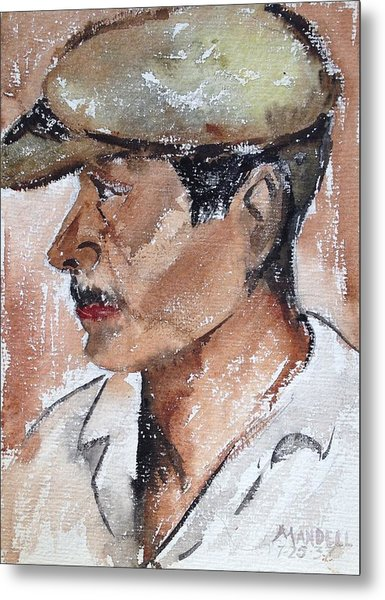 Laborer Metal Print by Maxwell Mandell