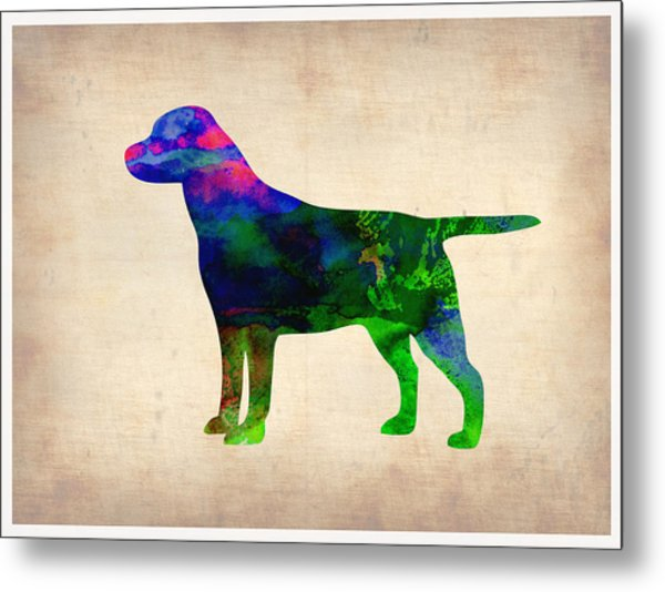 Labrador Retriever Watercolor 2 Metal Print
