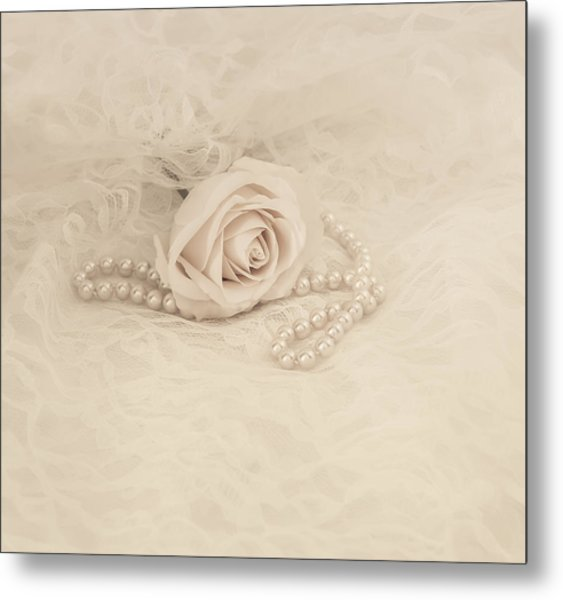 Lace And Promises Metal Print