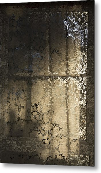 Metal Print featuring the photograph Lace Curtain 1 by Jocelyn Friis