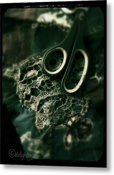 Metal Print featuring the digital art Lace by Delight Worthyn