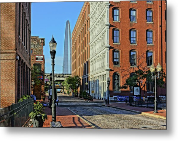 Laclede's Landing Just North Of The Arch Metal Print