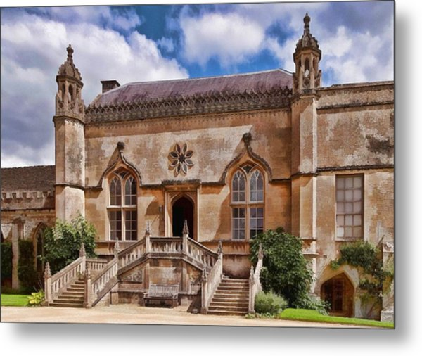 Lacock Abbey - The West Front Metal Print