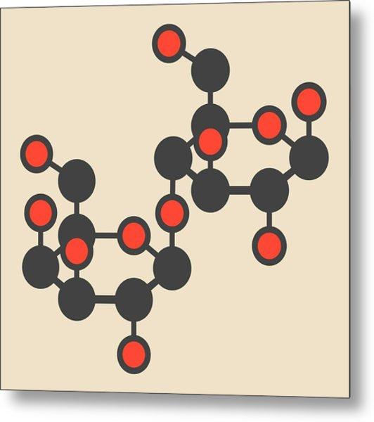 Lactose Milk Sugar Molecule Metal Print by Molekuul