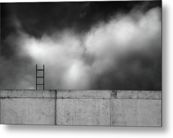 Ladder And Wall... Metal Print